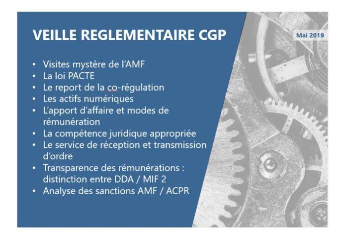 Regulatory News CGP – Mai 2019