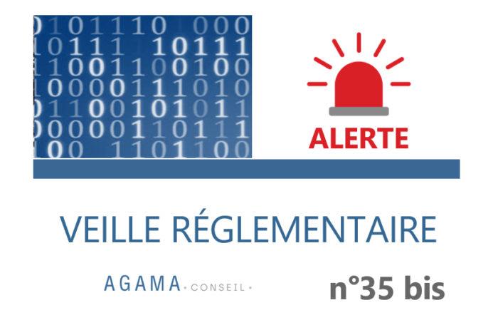 Regulatory News AGAMA N°35 bis – ALERTE