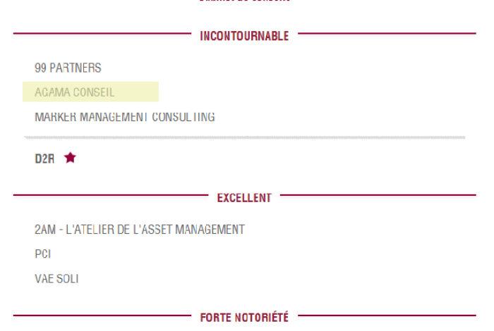 Décideurs Magazine 2018 – AGAMA rated Unmissable